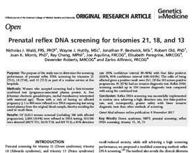 Praenatal plus Akademie – Prenatal reflex DNA screening for trisomies 21,18, and 13 (eng)